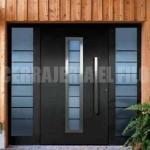 puerta de aluminio con cristales